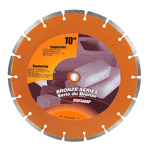 """Stay Sharp"" Segmented Diamond Blade - 10"""