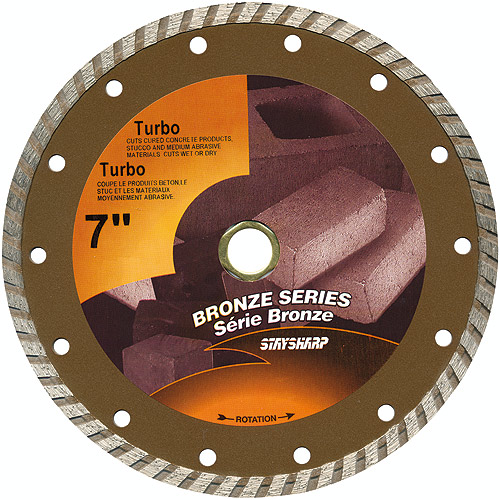 Turbo Circular Saw Diamond Blade - 7""