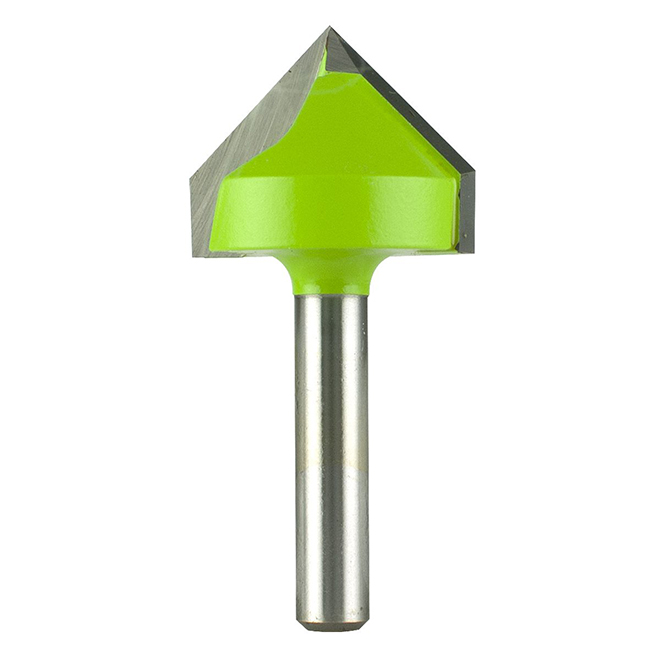 "V-Groove Carbide Router Bit - 1"" x 1/4"""