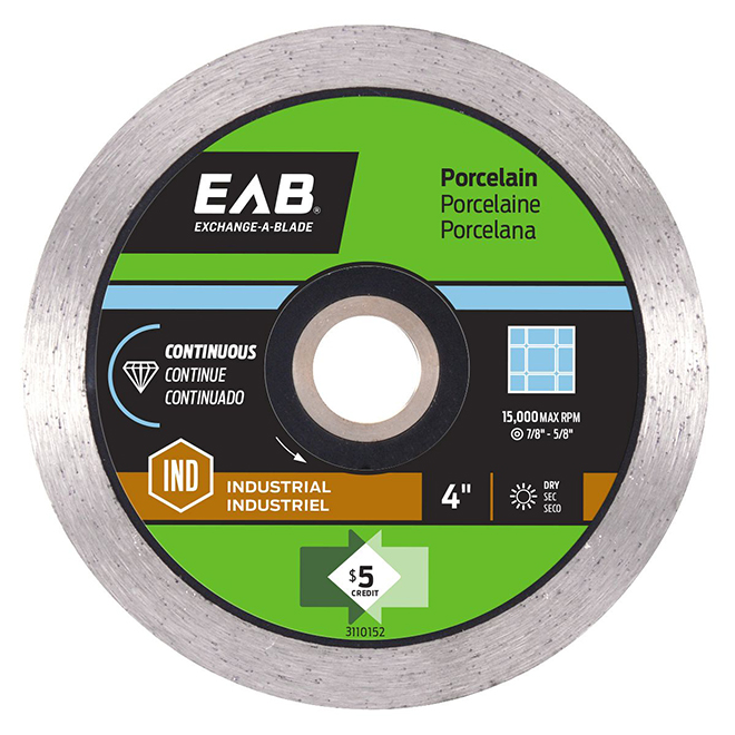 """Contractor Series"" Continuous Diamond Blade - 4"""