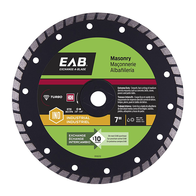 """Contractor Series"" Turbo Diamond Blade - 7"""