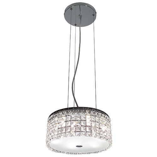 Suspension à 6 lumières « Glam Cobalt »