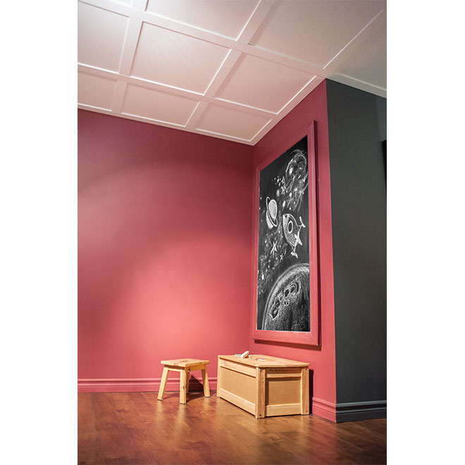 Tuile plafond embassy 24 x 24 blanc rona for Modele de plafond suspendu