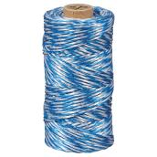 Polypropylene Twine - Twisted - Medium - 500' - White/Blue