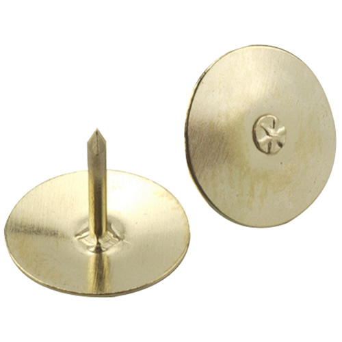 "Thumbtacks - Brass - 13/32"" - 60/Pk"
