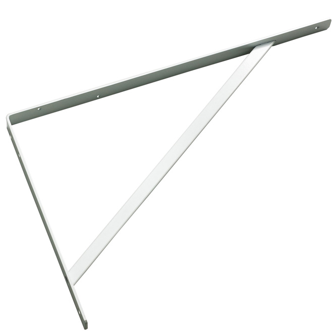 "Support de tablette en acier, 20"", blanc"