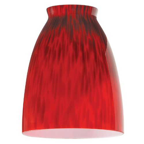 """Temptress"" Hand-Blown Glass Shade - Red"