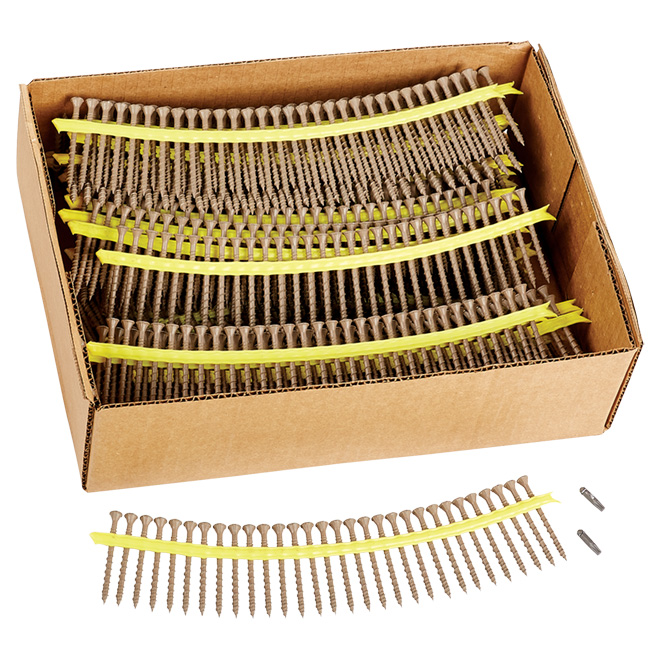 """Deck-Drive (TM)"" Wood Screws- #10 - 2.5"" - 1,000 Box"