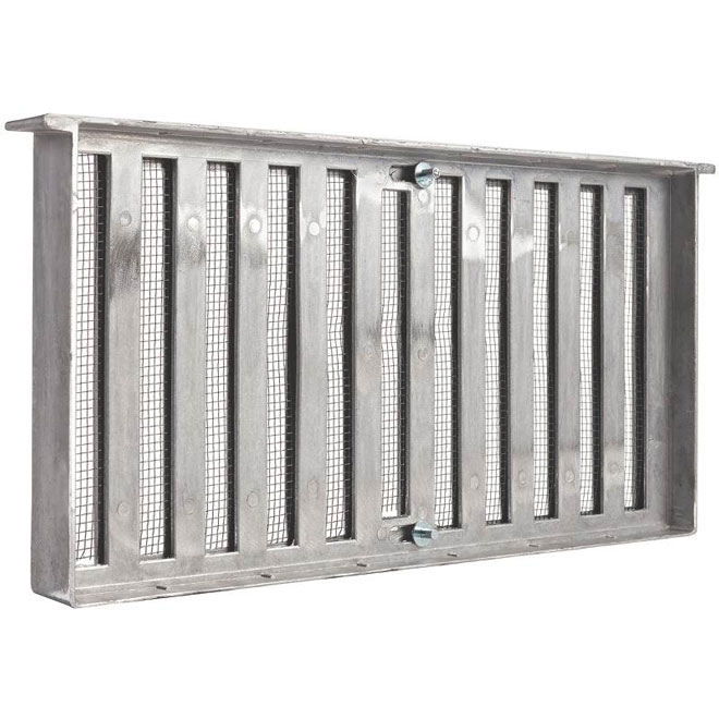 "Aluminium Foundation Vents With Shutter - 16""x8"""