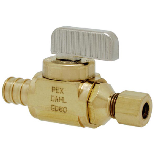 PEX In-line Stop and Isolation Valve