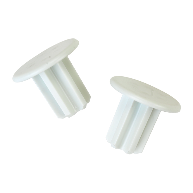 """SuperSlide"" Rod End Cap 2-Pack - White"