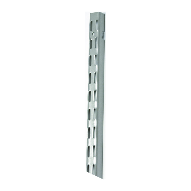 Rail vertical « ShelfTrack » de 48 po, nickel