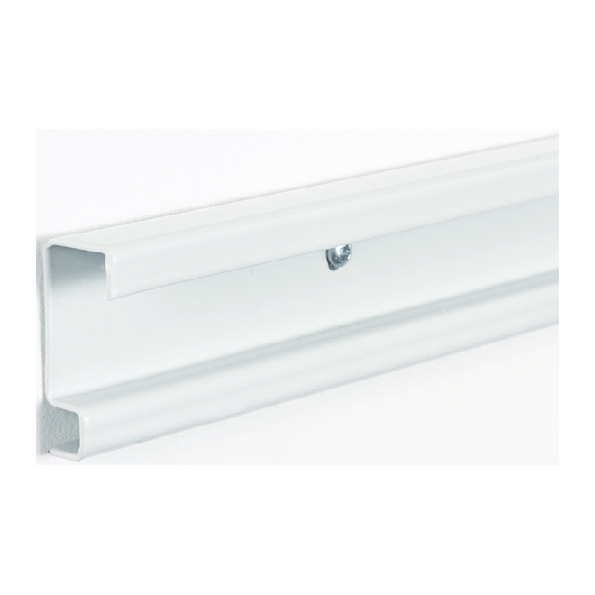 Rail horizontal « ShelfTrack » - 2 po x 40 po, blanc