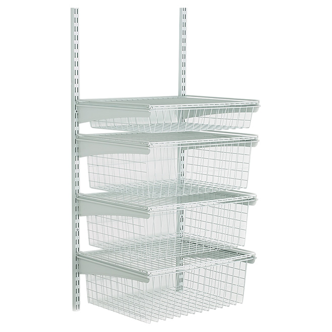 """ShelfTrack"" 4-Drawer Wire Shelf - 19"" x 17"" x 27"""