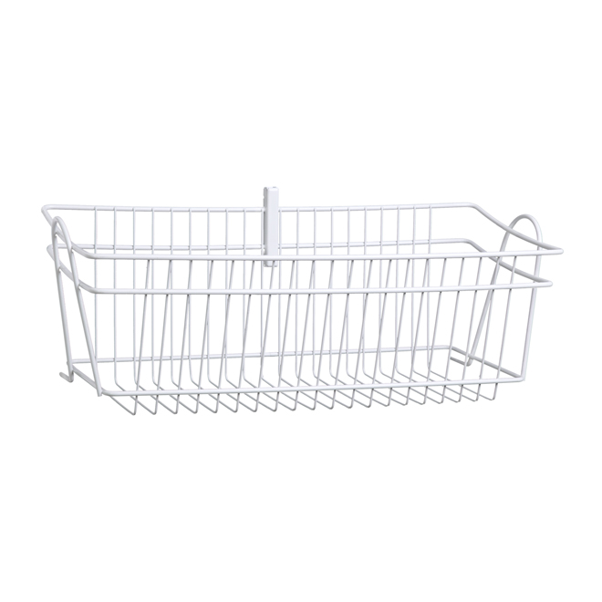 """ShelfTrack"" Wire Basket 8.7"" x 19.5"" - White"