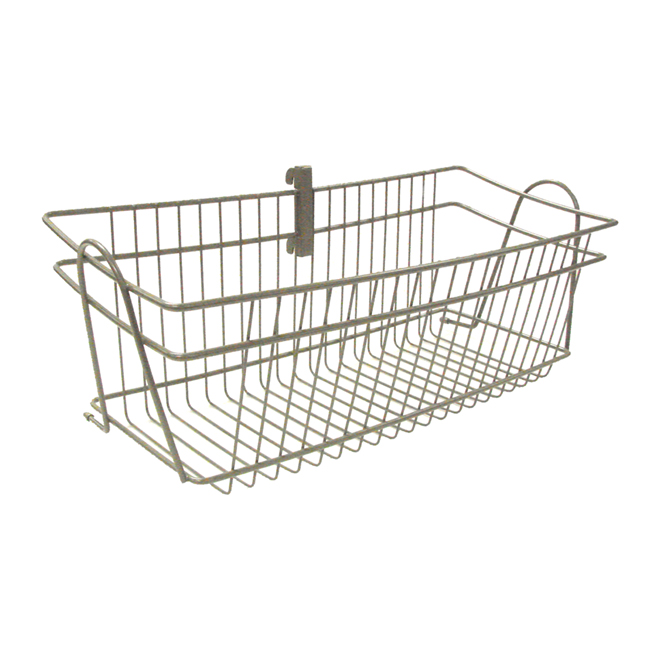 "ShelfTrack Wire Basket 8.7"" x 19.5"" - Nickel"