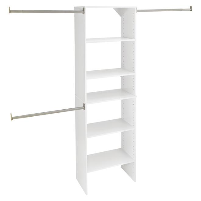 organisateur de garde robe blanc rona. Black Bedroom Furniture Sets. Home Design Ideas
