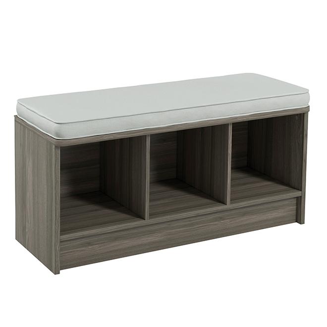 Closetmaid 3 Cube Storage Bench Grey Rona