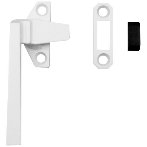 White Metal Casement Locking Handle - Left Handed