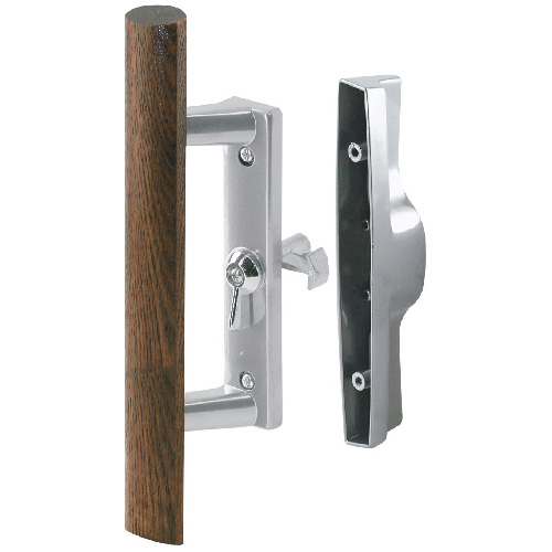 Aluminum finish Diecast Inside Pull With Wood Handle