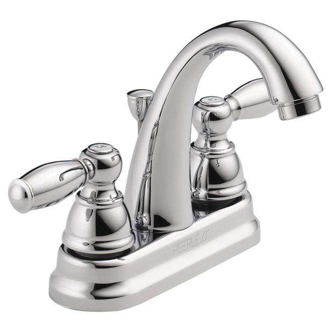 Robinet de salle de bain 2 poign es chrome rona for Robinet salle de bain rona