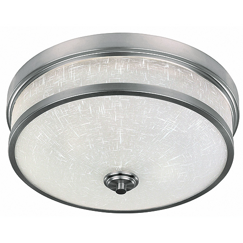 "Flushmount 14"" - 2 Lights - Edge - Brushed Pewter"