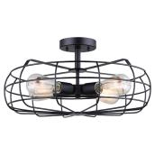 Semi Flush-Mount Light - 4 Lights - Anaelle - Black