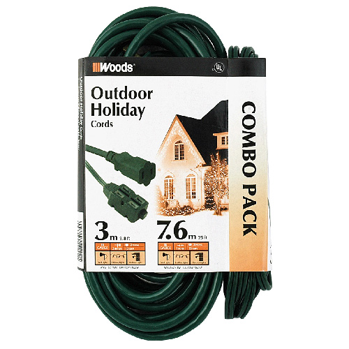 2 Outdoor Extension Cords Combo