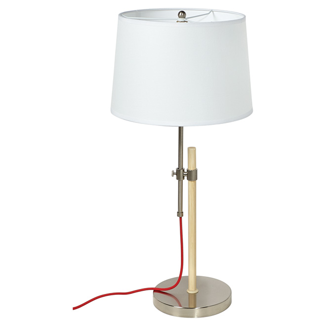 "Table Lamp 24 1/2"" - Brushed Steel"