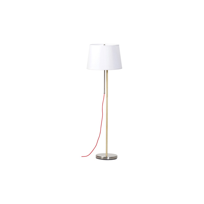 "Floor Lamp 56,5"" - Brushed Steel"