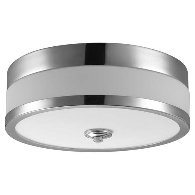 Flush-Mount Light - 1 Light - Carolina - Chrome