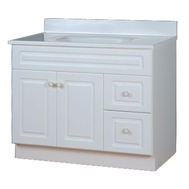 meuble lavabo 2 portes 2 tiroirs san juan blanc rona. Black Bedroom Furniture Sets. Home Design Ideas