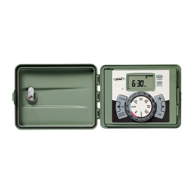 Timer - 6-Station Outdoor Swing-Panel Irrigation Timer