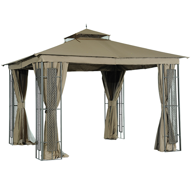 Sun shelter 10 x 10 ft rona for Abri mural sun shelter