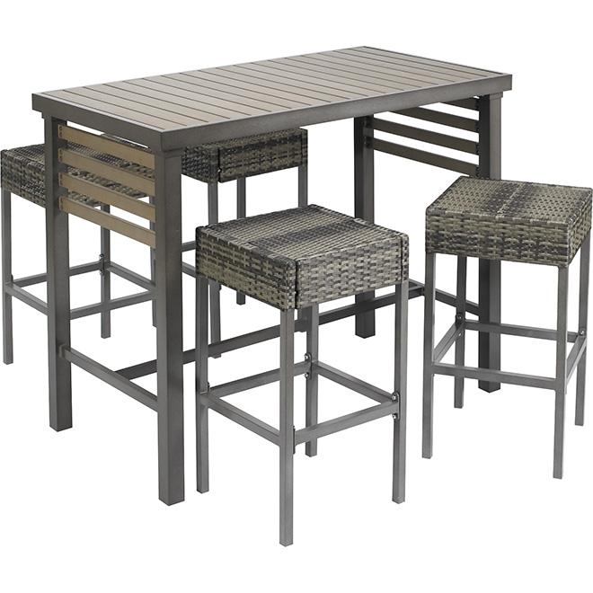 Ensemble de bar pour patio 5 mcx rona for Table exterieur rona