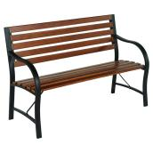 Outdoor Park Bench - Brown/Black