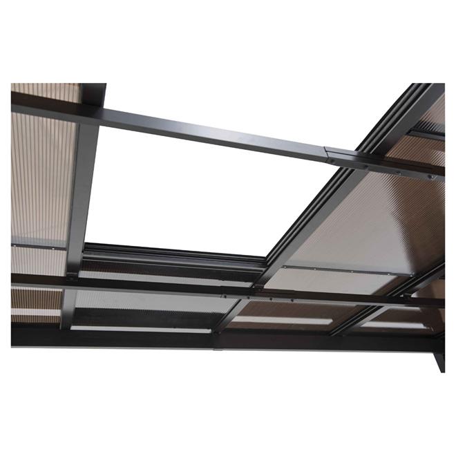 Abri soleil r tractable 10 pi x 12 pi brun fonc rona for Abri soleil mural toit rigide