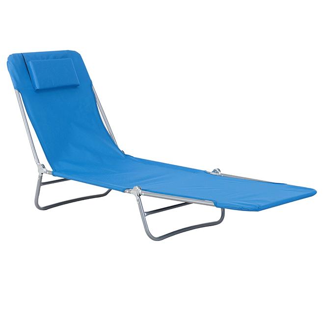 chaise longue de patio pliante bleu rona. Black Bedroom Furniture Sets. Home Design Ideas