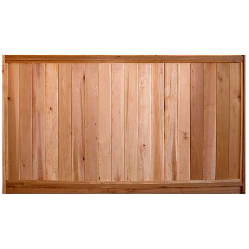 solid cedar fence panel