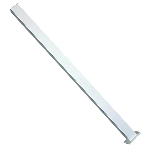 "Aluminum Fence Stair Post 42"" - White"