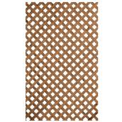 Privacy Lattice -  Treated Wood - 1 x 8' - Brown