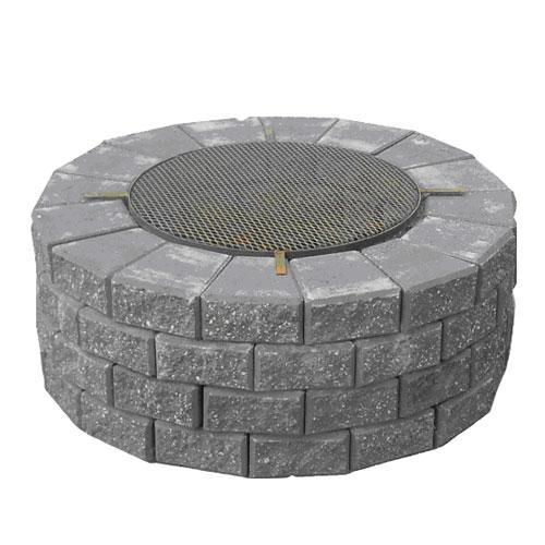 Plan Pour Foyer Extérieur Brique : Stackstone firepit rona