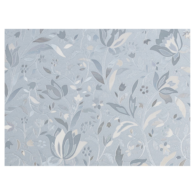"Static-Cling Window Film - Floral - 32.25"" x 78""- Clear"