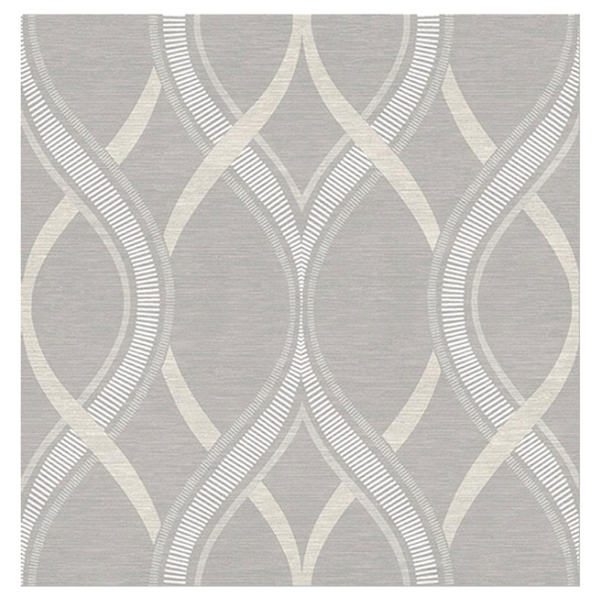 "Wallpaper -Intertwined Lines - 20"" x 33' - Taupe"