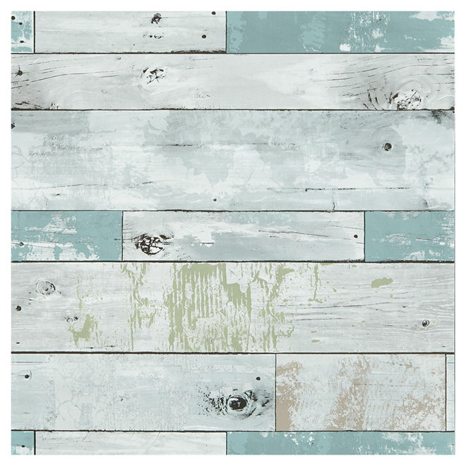 Wallpaper Beachwood 205 X 18 BlueGreen RONA