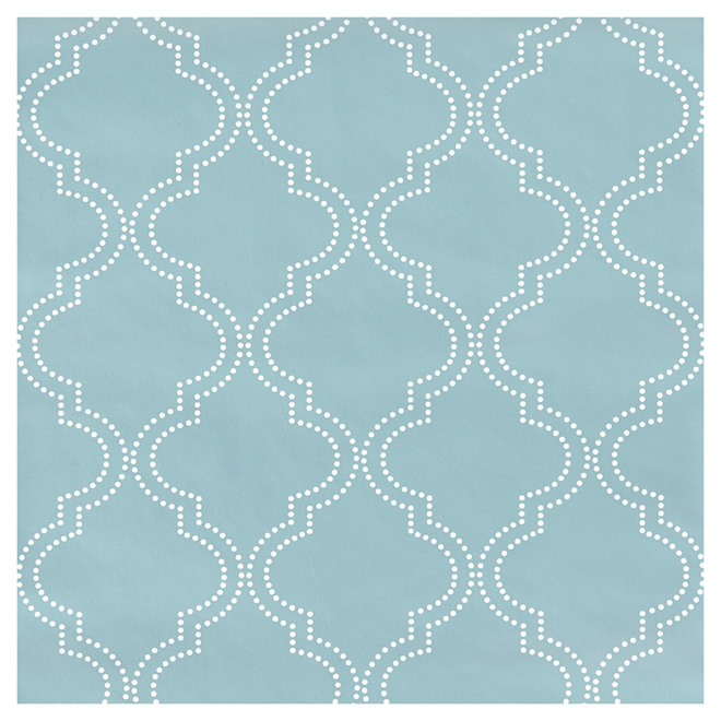 Papier peint motif quadrilobe 20 5 x 18 39 bleu rona for Decoration quadrilobe