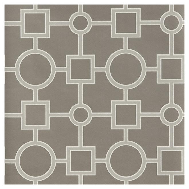 papier peint formes g om triques 20 5 x 33 39 gris rona. Black Bedroom Furniture Sets. Home Design Ideas