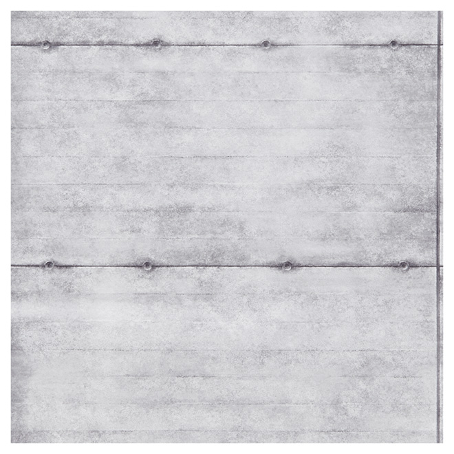 "Wallpaper- Concrete Blocks - 20.5"" x 33' - Grey/White"