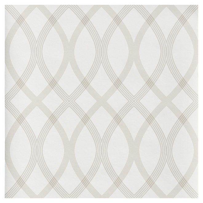 "Wallpaper - Geometrical Pattern - 20.5"" x 33' - Beige"
