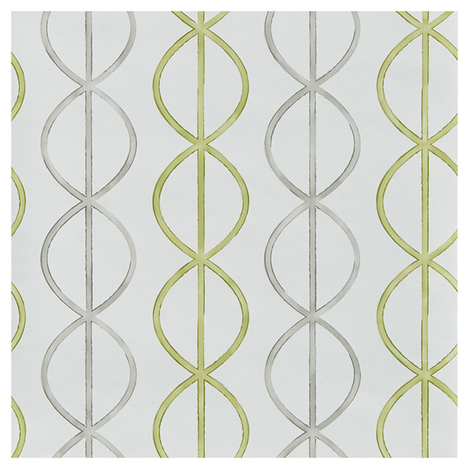 "Wallpaper - Swirls - 20.5"" x 33' - Green/Grey"